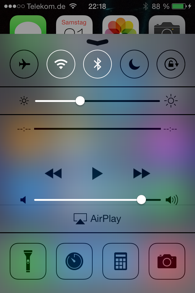 ios 7 quick slide