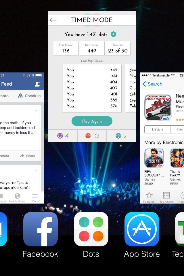 ios 7 close app