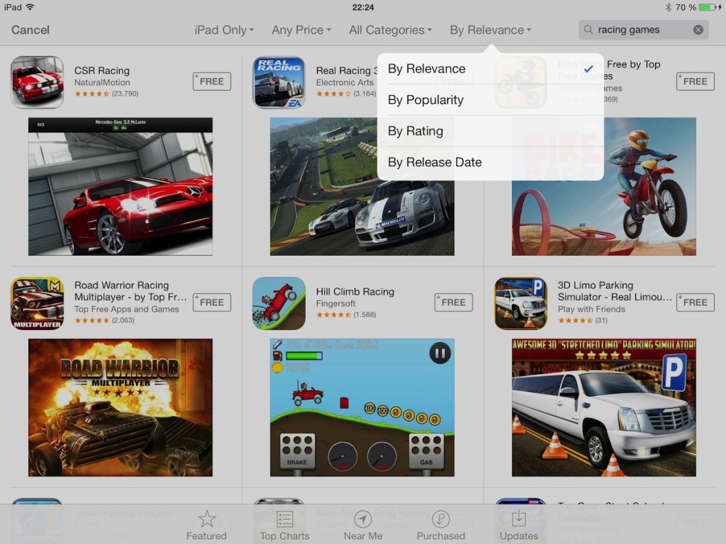 ios7 ipad appsearch